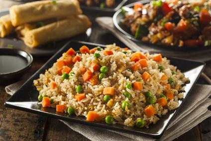 אורז עם ירקות כמו בסין