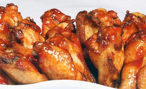 כנפי עוף ברוטב צ'ילי מתוק בתנור
